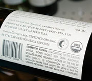 organic wine label