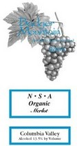 Badger Mountain Organic Merlot Nsa 2007