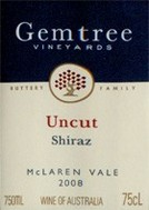Gemtree Vineyards Shiraz Uncut 2008