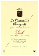 Frog's Leap Pink Rose Napa Valley la Grenouille Rougante 2009