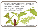 Pyramid Valley Vineyards 'Growers Collection' Eaton Family Vineyards Pinot Noir 2007