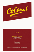 Colome Malbec Estate 2008