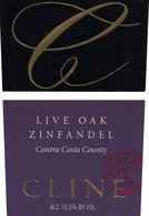 Cline Cellars Live Oak Zinfandel 2008
