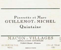 Domaine Guillemot-Michel Macon-Villages Quintaine 2007