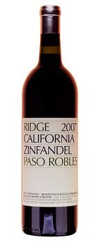 Ridge Vineyards Zinfandel Paso Robles  2007