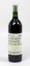 Ridge Vineyards Zinfandel Paso Robles 2008