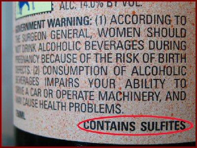 sulfite in wine headaches